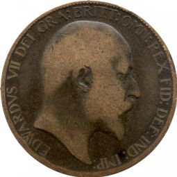 Edward VII Half Penny for sale
